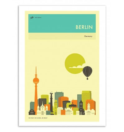Art-Poster 50 x 70 cm - Berlin Travel Poster - Jazzberry Blue