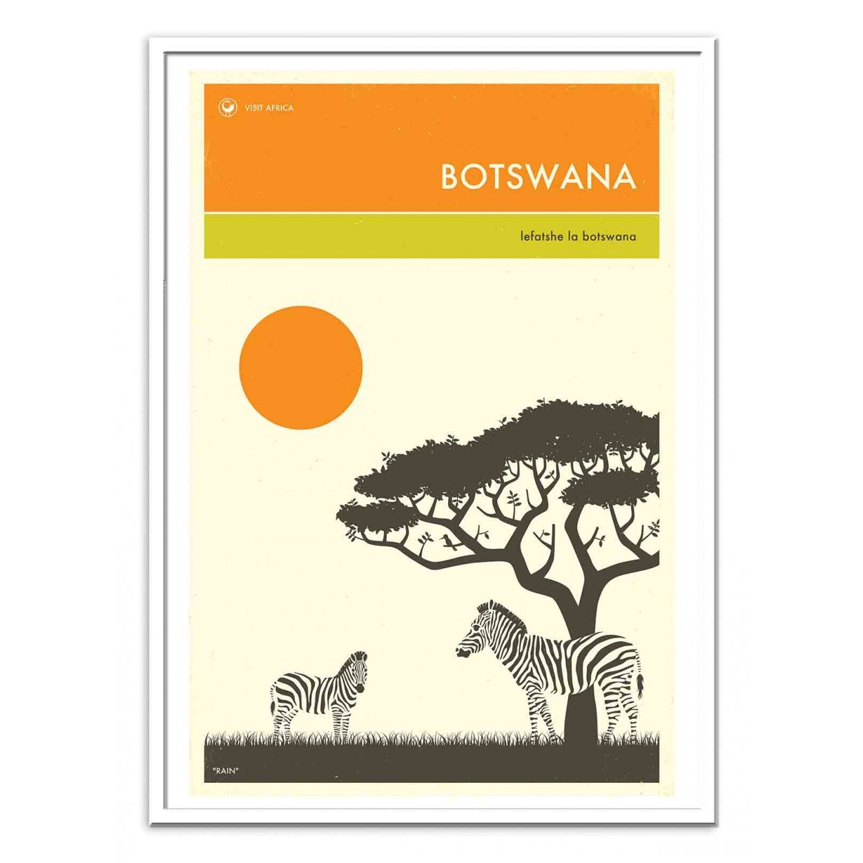 affiche d 39 art tableau et poster design du botswana en afrique. Black Bedroom Furniture Sets. Home Design Ideas