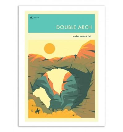 Art-Poster 50 x 70 cm - Double arch - Jazzberry Blue
