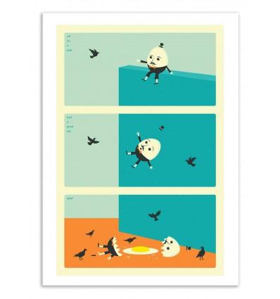 Art-Poster 50 x 70 cm - Humpty Dumpy - Jazzberry Blue