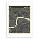 Art-Poster - London Map - Jazzberry Blue