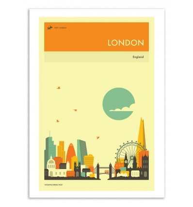 Art-Poster 50 x 70 cm - London Travel Poster - Jazzberry Blue