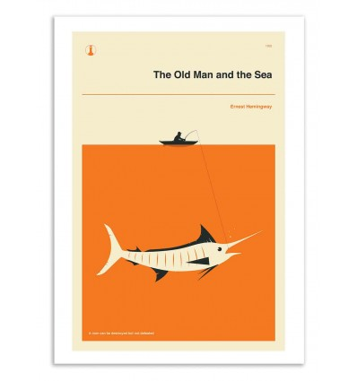 Art-Poster 50 x 70 cm - The old man and the sea - Jazzberry Blue