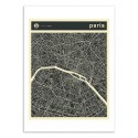 Art-Poster - Paris Map - Jazzberry Blue