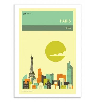 Art-Poster 50 x 70 cm - Paris Travel Poster - Jazzberry Blue