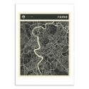 Art-Poster - Rome Map - Jazzberry Blue