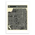 Art-Poster - San Francisco Map - Jazzberry Blue