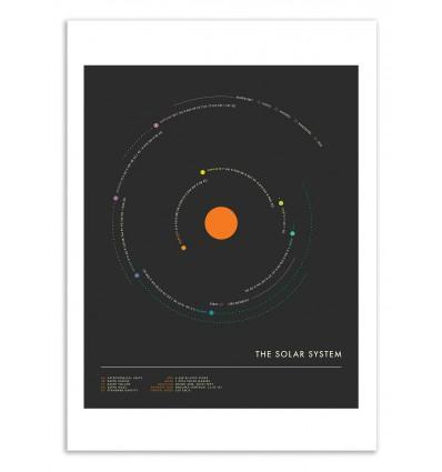 Art-Poster 50 x 70 cm - Solar System Minimal - Jazzberry Blue