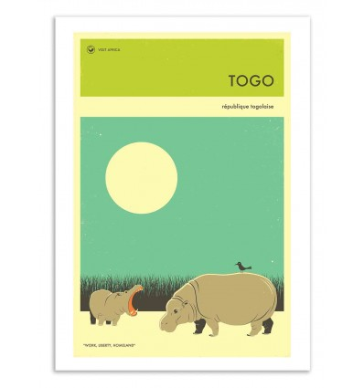 Art-Poster 50 x 70 cm - Togo Travel Poster - Jazzberry Blue