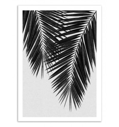 Art-Poster 50 x 70 cm - Palm Leaf Part 3 Black and White - Orara Studio