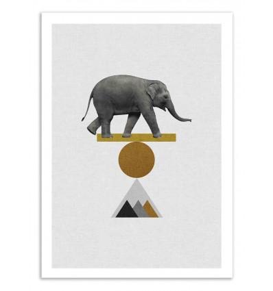 Art-Poster 50 x 70 cm - Circus Elephant - Orara Studio