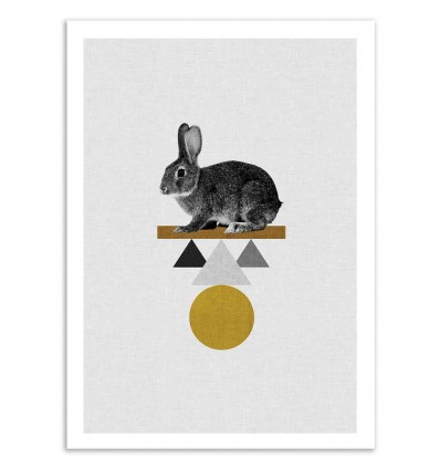 Art-Poster 50 x 70 cm - Circus Rabbit - Orara Studio