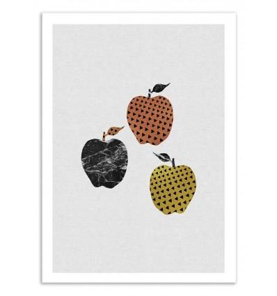 Art-Poster 50 x 70 cm - Scandi apples - Orara Studio
