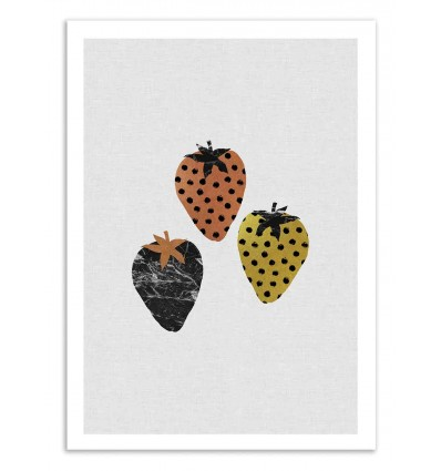 Art-Poster 50 x 70 cm - Scandi Strawberries - Orara Studio