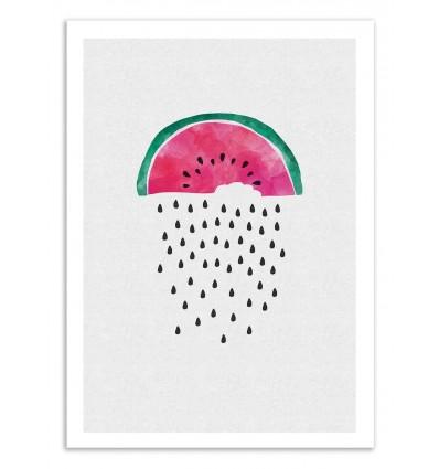Art-Poster 50 x 70 cm - Watermelon Rain - Orara Studio