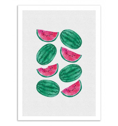 Art-Poster 50 x 70 cm - Watermelon Crowd - Orara Studio