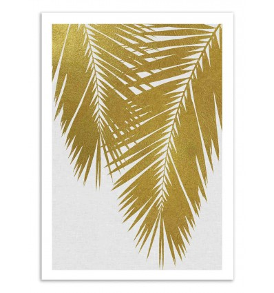 Art-Poster 50 x 70 cm - Palm Leaf Gold - Orara Studio