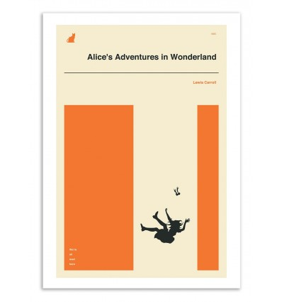 Art-Poster 50 x 70 cm - Alice adventures in Wonderland part 2 - Jazzberry Blue