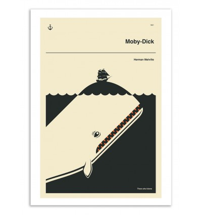 Art-Poster 50 x 70 cm - Moby Dick - Jazzberry Blue