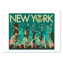 Art-Poster - Wild New-York - Jazzberry Blue