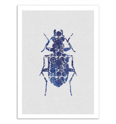 Art-Poster 50 x 70 cm - Blue Beetle - Orara Studio