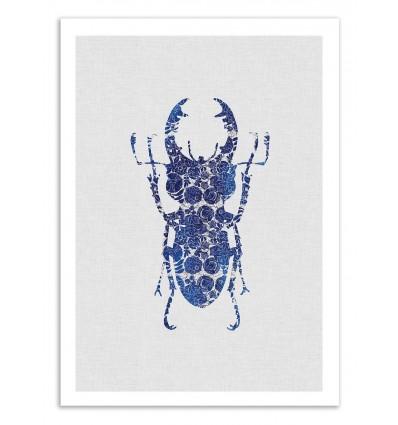 Art-Poster 50 x 70 cm - Blue Beetle Part 2 - Orara Studio