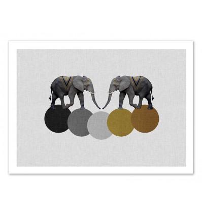 Art-Poster 50 x 70 cm - Tribal Elephant - Orara Studio