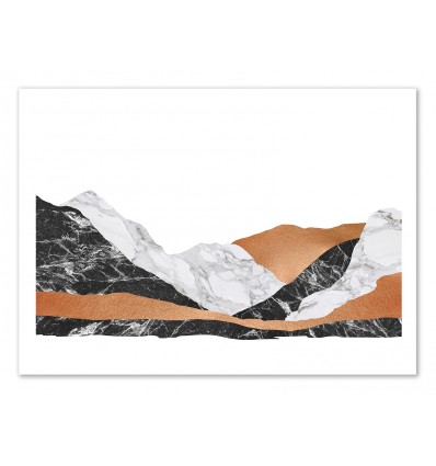 Art-Poster 50 x 70 cm - Marble landscape - Orara Studio