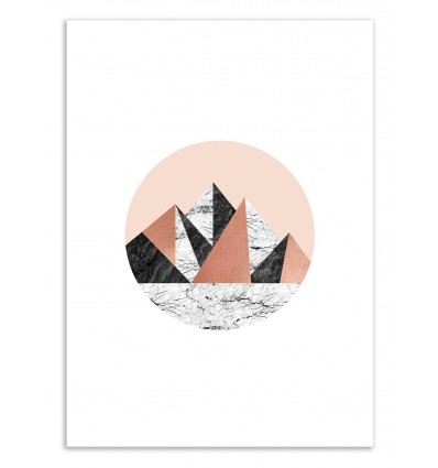 Art-Poster 50 x 70 cm - Geo landscape Circle - Orara Studio