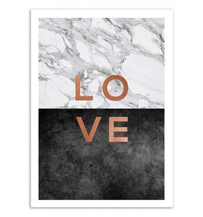 Art-Poster 50 x 70 cm - Love - Orara Studio