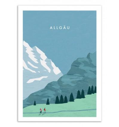 Art-Poster 50 x 70 cm - Allgäu - Katinka Reinke