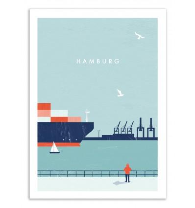 Art-Poster 50 x 70 cm - Hamburg - Katinka Reinke