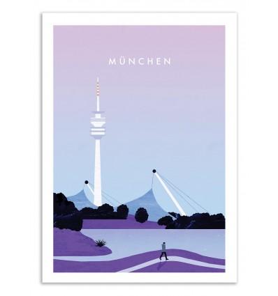 Art-Poster 50 x 70 cm - Munchen - Katinka Reinke