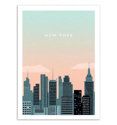 Art-Poster 50 x 70 cm - New York - Katinka Reinke