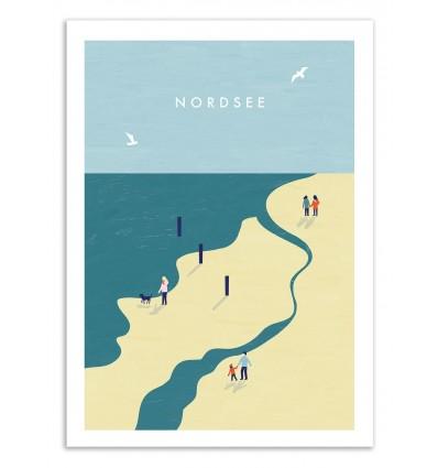 Art-Poster 50 x 70 cm - Nordsee - Katinka Reinke