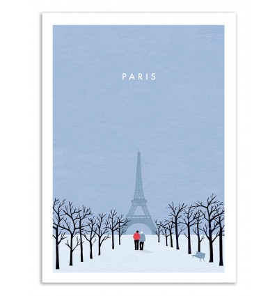 Art-Poster 50 x 70 cm - Paris - Katinka Reinke