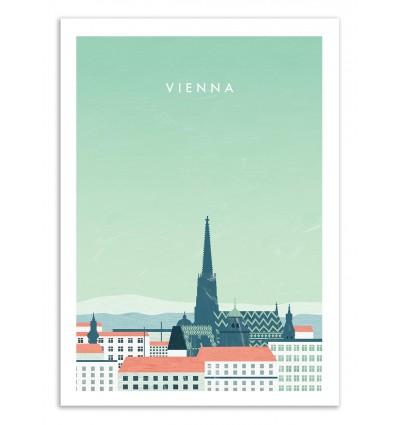 Art-Poster 50 x 70 cm - Vienna - Katinka Reinke