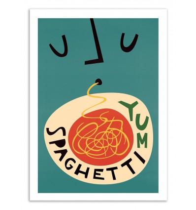 Art-Poster 50 x 70 cm - Spaghetti - Fox and Velvet