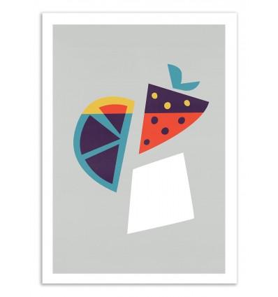 Art-Poster 50 x 70 cm - Strawberry Cocktail - Fox and Velvet