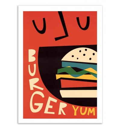 Art-Poster 50 x 70 cm - Yum Burger - Fox and Velvet