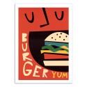 Art-Poster - Yum Burger - Fox and Velvet