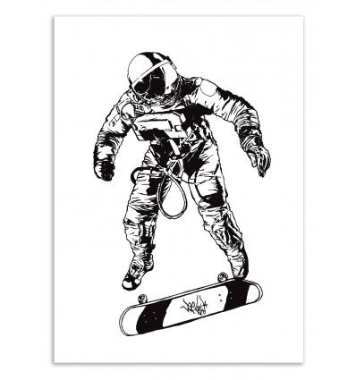 Art-Poster 50 x 70 cm - Astro Skater - Vee Ladwa