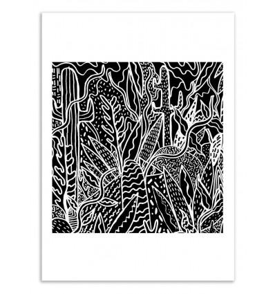 Art poster 50 x 70 cm the garden oh deer kris tate