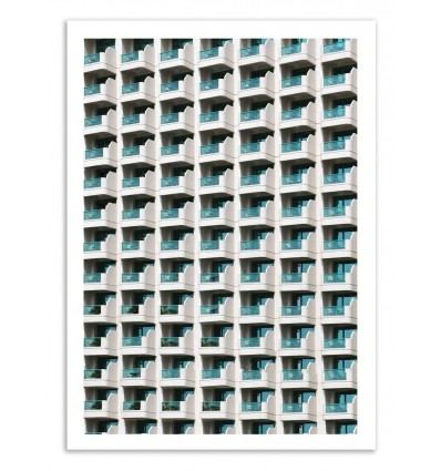 Art-Poster 50 x 70 cm - Balconies - Marcus Cederberg