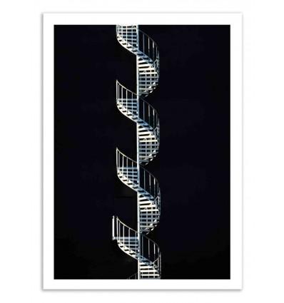 Art-Poster 50 x 70 cm - Black stair - Marcus Cederberg