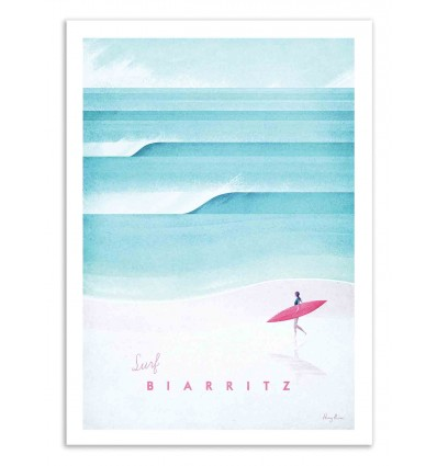 Art-Poster 50 x 70 cm - Surf Biarritz - Henry Rivers