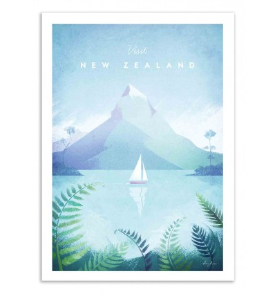 Art-Poster 50 x 70 cm - Visit New Zealand - Henry Rivers