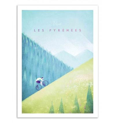 Art-Poster 50 x 70 cm - Visit Les Pyrénées - Henry Rivers