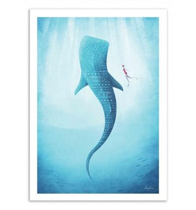 Art-Poster 50 x 70 cm - Whale Shark - Henry Rivers