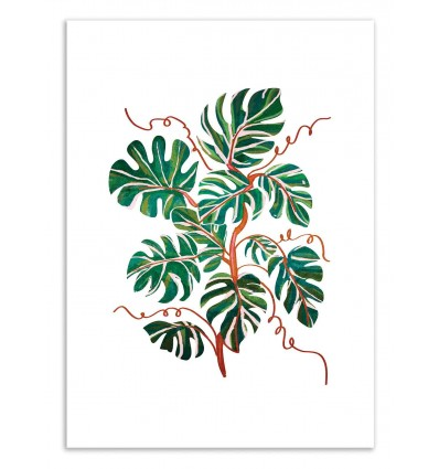 Art-Poster 50 x 70 cm - Monstera Deliciosa - 83 Oranges